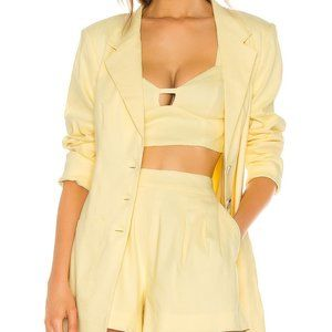 MAJORELLE My Way Blazer in Pastel Yellow